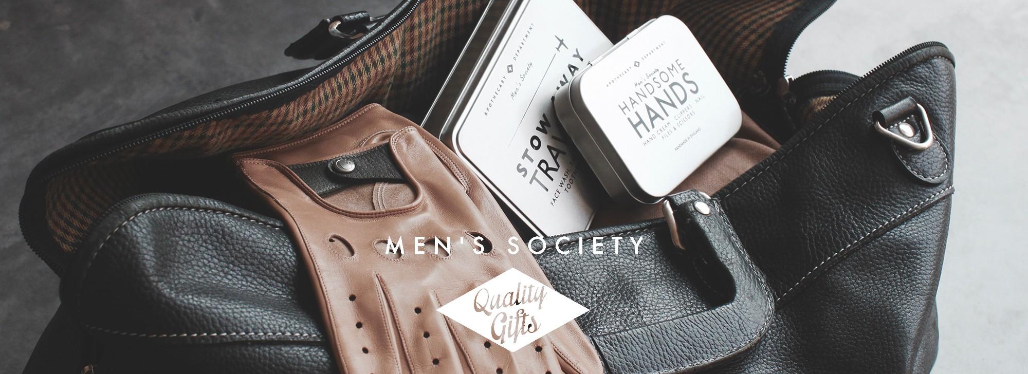 Men's Society produits de voyages et d'intérieurs pour hommes stylés