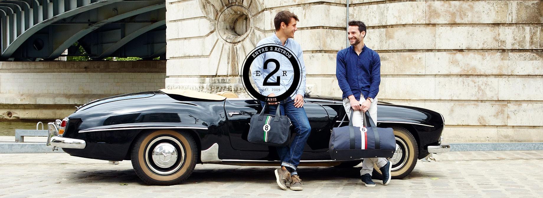 Inspirée de l'univers automobile des annnées 50 et 60, Entre 2 Rétros propose une gamme de sacs pratiques et élégants à la fois pour homme et pour femme à partir de matériaux upcyclés.